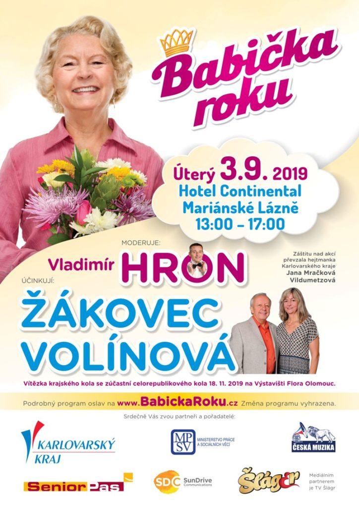 plakát babička roku Karlovarského kraje 2019